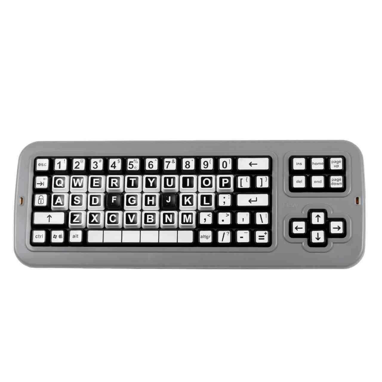 Clevy Big Keys Contrast Keyboard recht