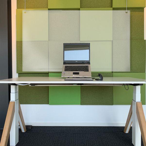 Ergowork scherm plexiglas hangend