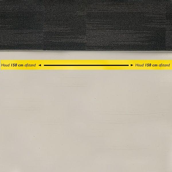 Ergowork sticker rechthoekig Houd 150 cm afstand