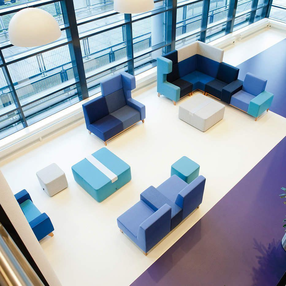 Unite akoestisch meubilair modulaire lounge banken
