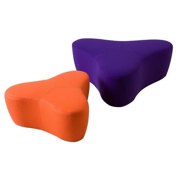 Zitelement Chat small poefen oranje en paars
