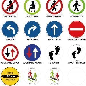Ergowork signalering sticker - rond - ⌀30cm