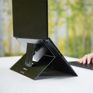 Ergowork Second Skin - Verstelbare laptopstandaard - Zwart