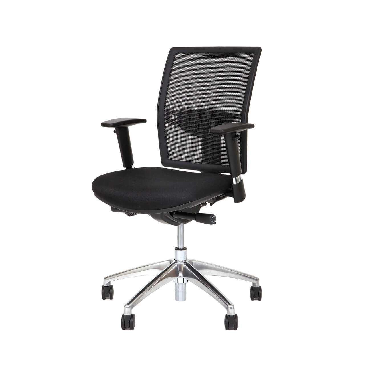 Budget netweave ergonomische bureaustoelen STKACS706 0001s 0004 Schuin