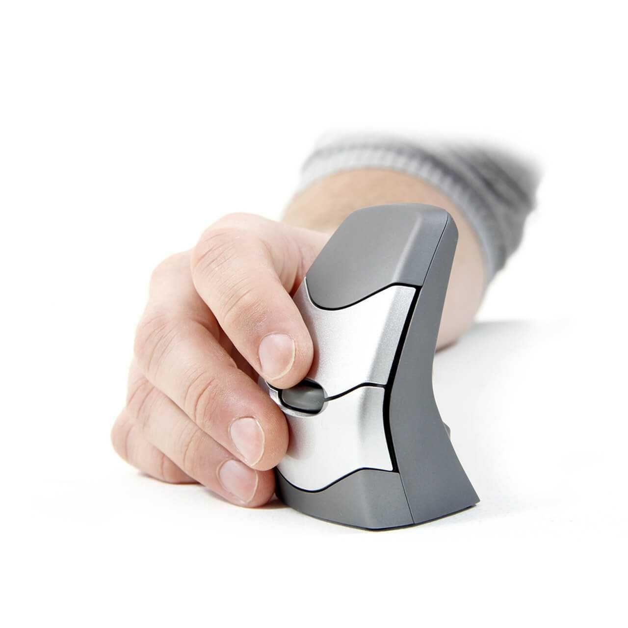 DXT verticale muis draadloos schuin in hand