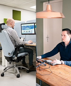 Hybride Werken: Overal en altijd ergonomisch aan het werk