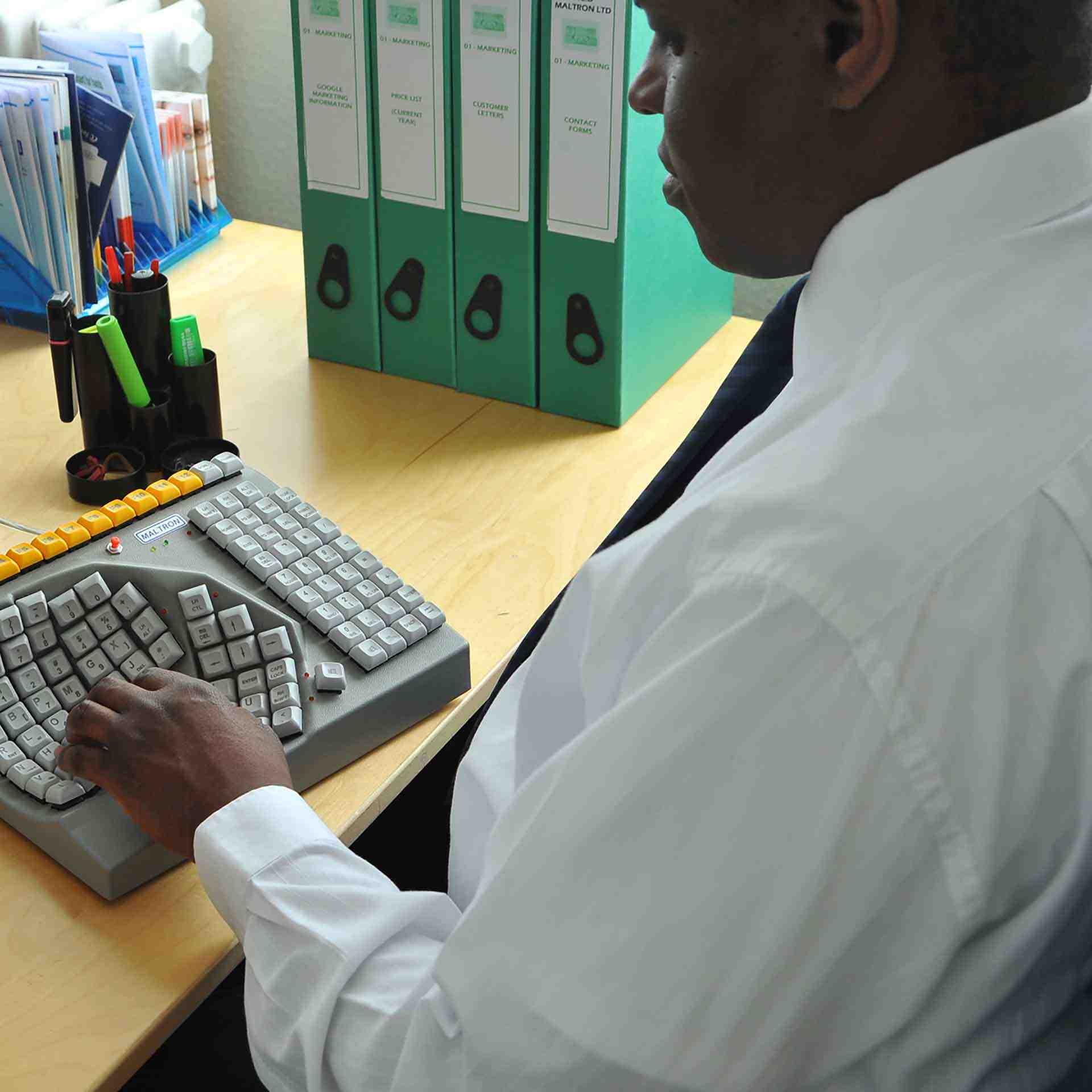 Maltron linkshandig toetsenbord ERKAMAL01 0005s 0004 Omgeving