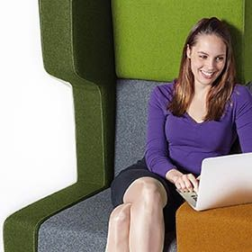 Ongestoord werken met Unite akoestisch meubilair
