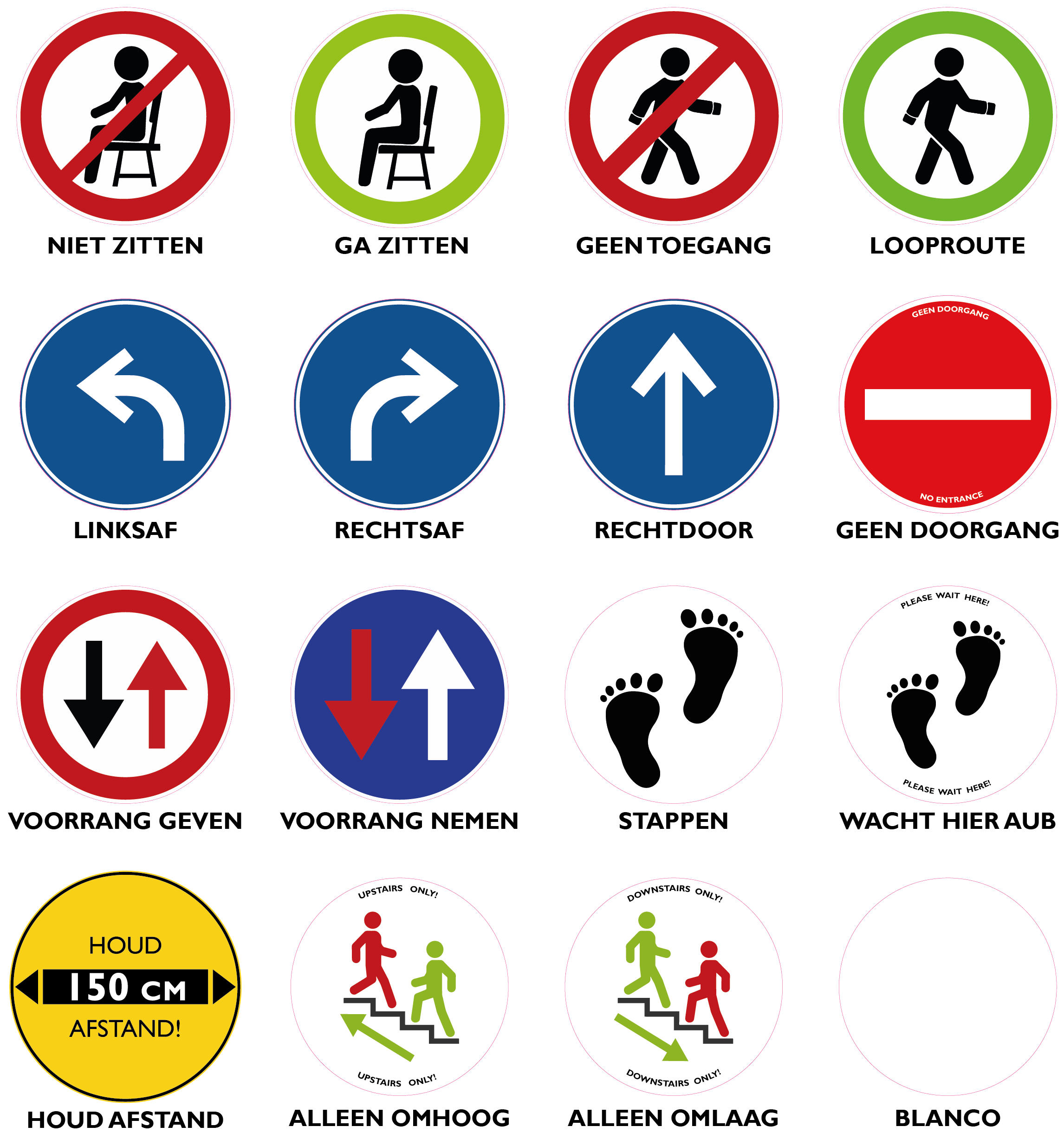 mozaik preventie stickers