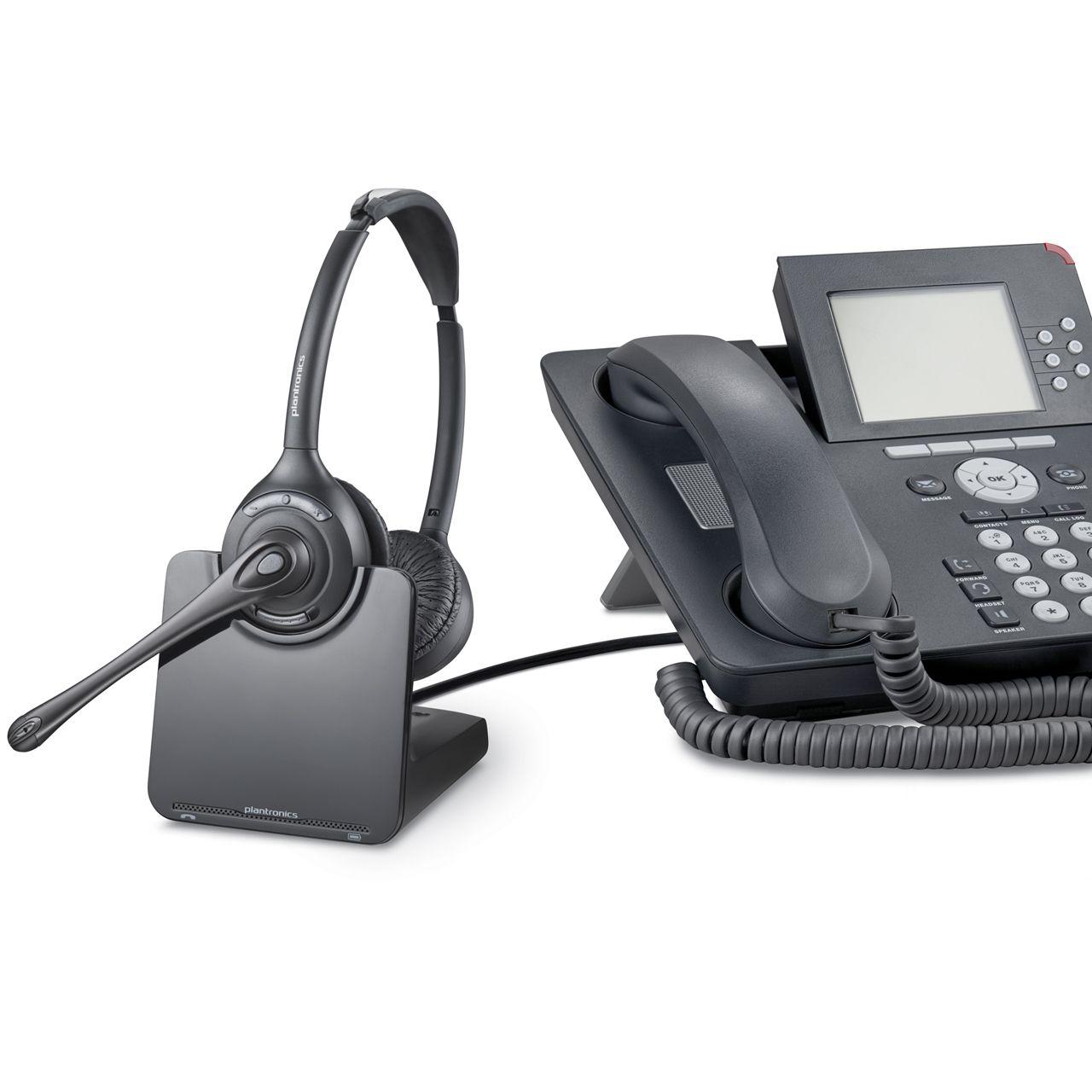 Plantronics cs520 binaural headset ERKACS520 0001 Met Telefoon
