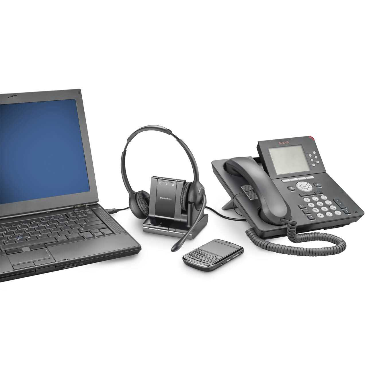 Plantronics savi w720 headset ERKAPLW720 0001 In Gebruik