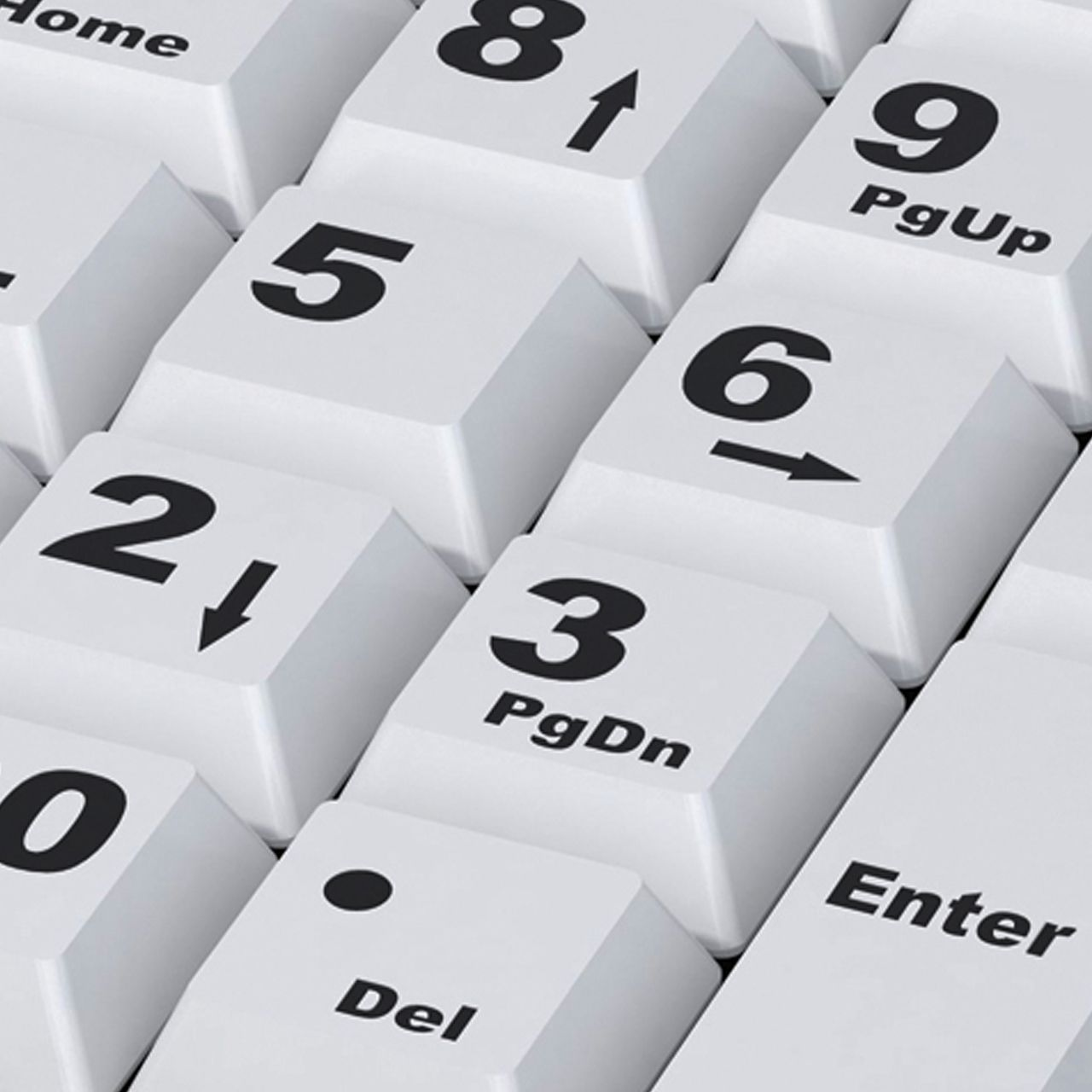 big keys keyboard hulpmiddelen slechtzienden ERKABKE101 Voorkant zoom
