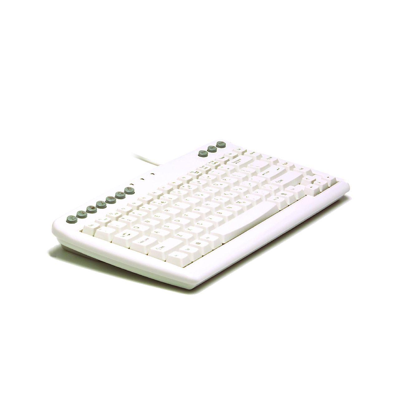 bakker-elkhuizen q board aquarius white toetsenbord bedraad ERKAAQU36 Schuin