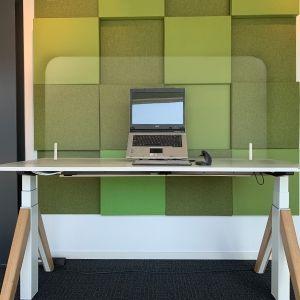 Ergowork vrijstaand scherm / bureauscherm - plexiglas