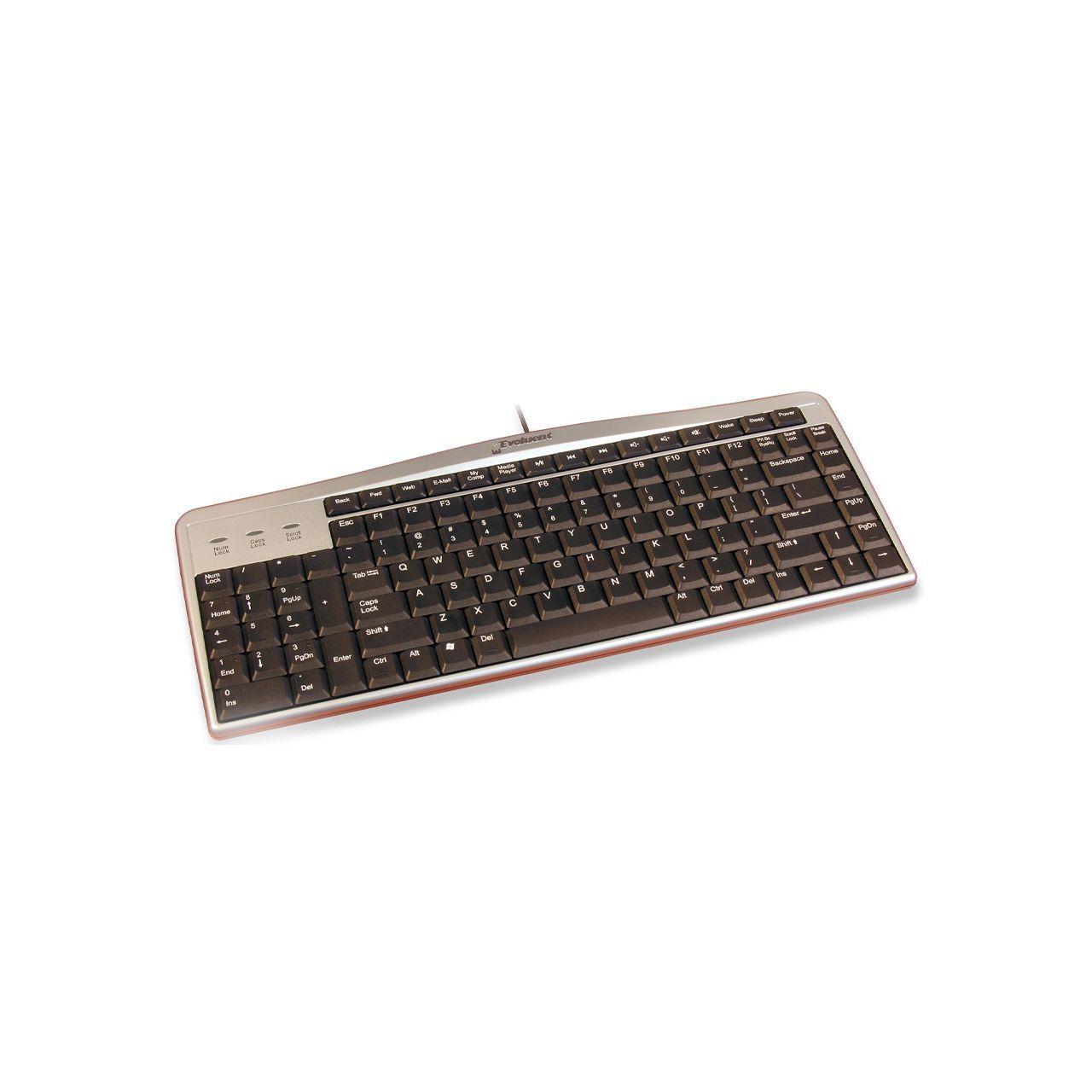 evoluent linkshandig toetsenbord ERKAELT18 Schuin