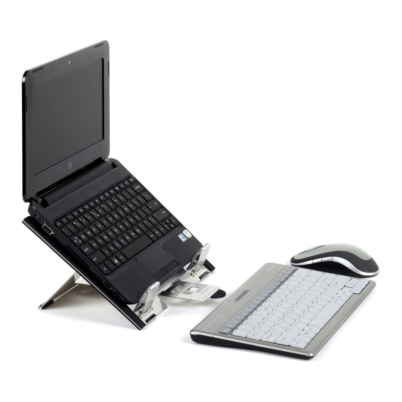 flextop mini laptophouder ERKAFTO31 met laptop