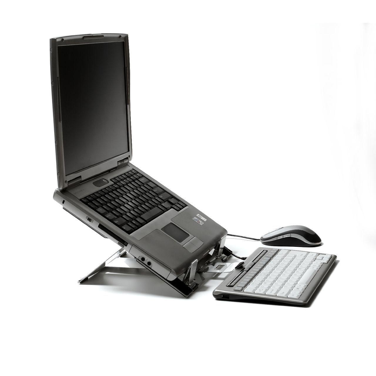 FlexTop laptophouder zijkant met laptop