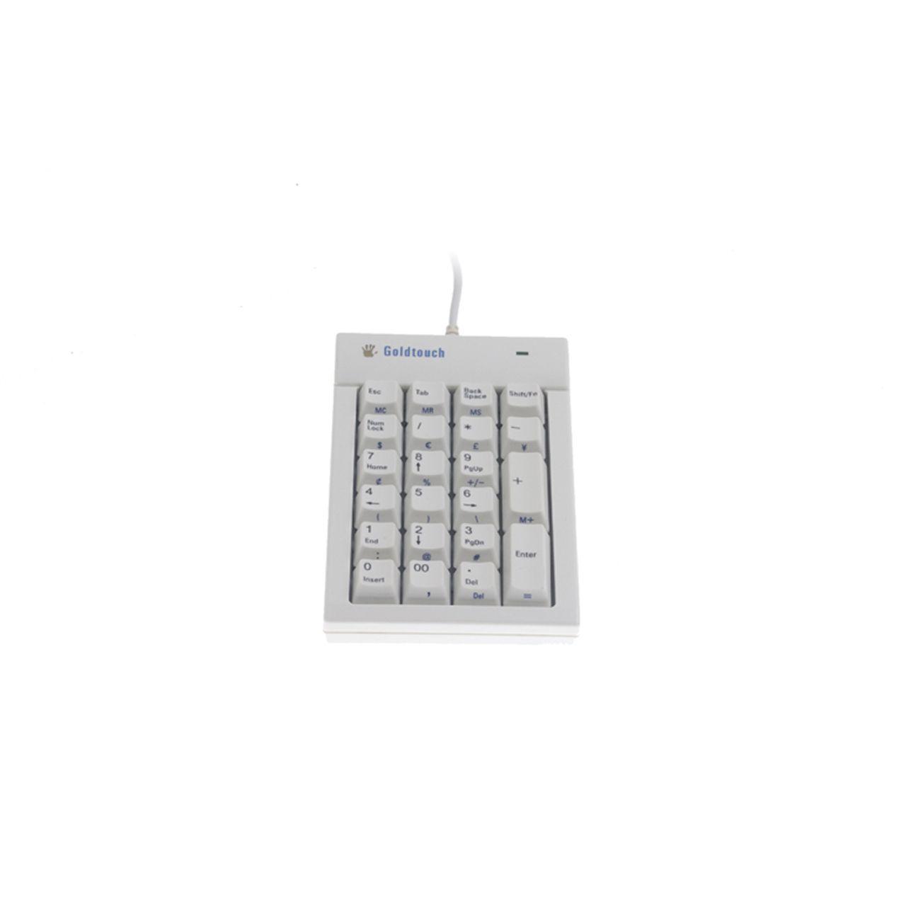 goldtouch nummeriek toetsenbord bedraad ERKAGOI301 Voorkant Wit