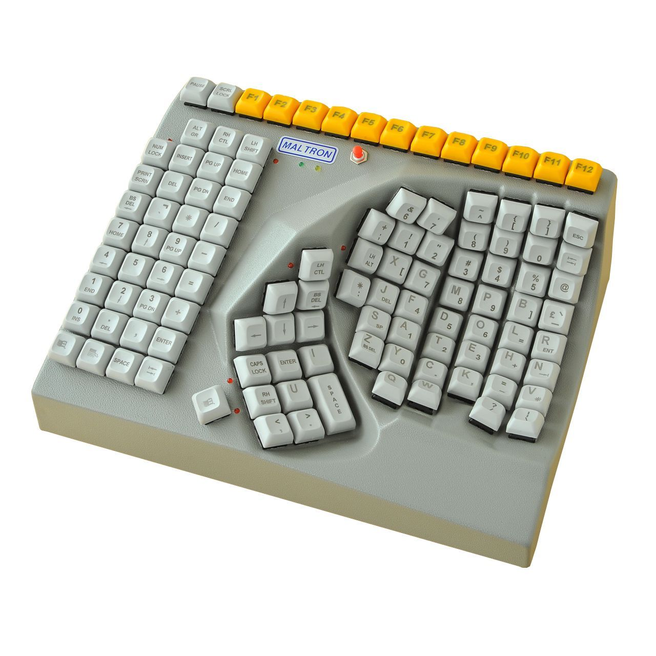 Maltron Rechtshandig toetsenbord Voorkant