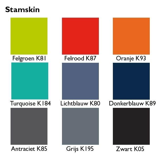 Stamskin kleurenkaart