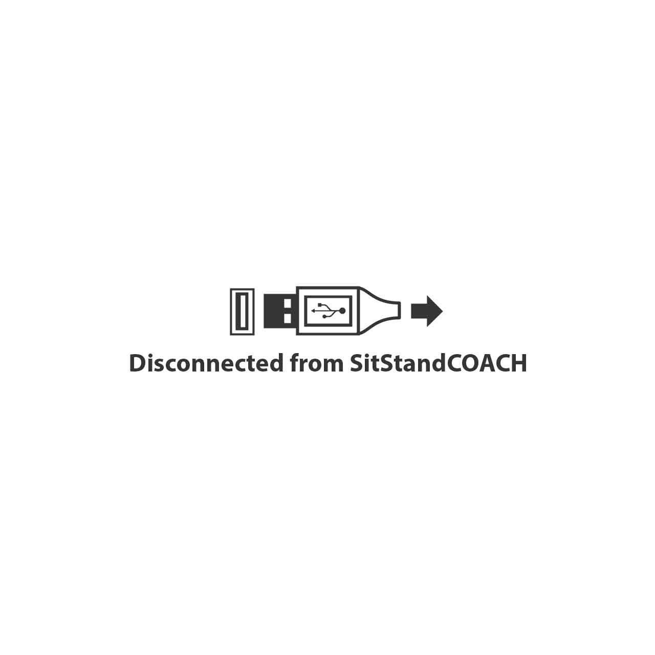SitStandCoach arbo software usb disconnected
