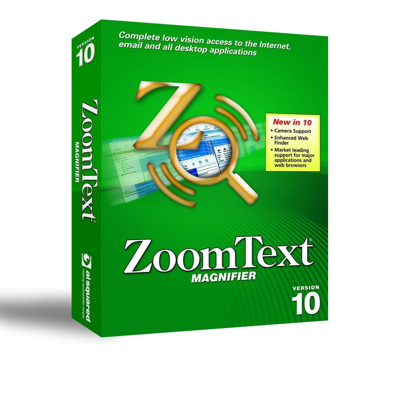 Zoomtext Magnifier vergrotingssoftware